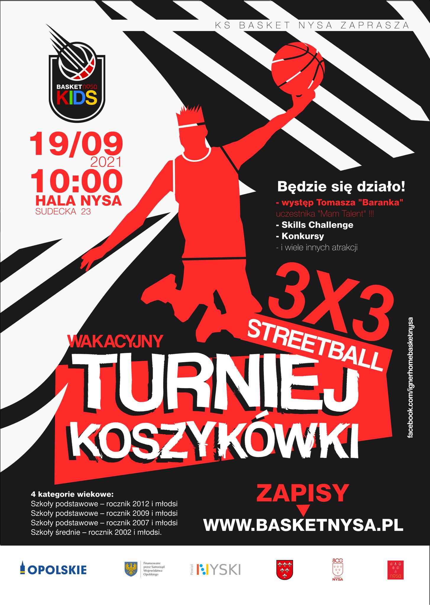 Turniej Koszykówki Streetball 3X3
